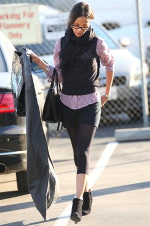 Zoe Saldana shops at Chanel in Beverly Hills December 5, 2012