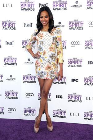 Zoe Saldana 2 Film Independent Spirit Awards in Santa Monica - February 25, 2012