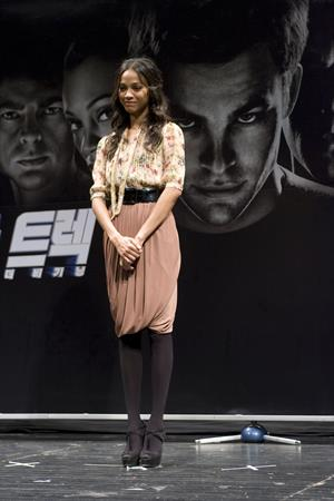 Zoe Saldana ''Star Trek - The Beginning' press conference at