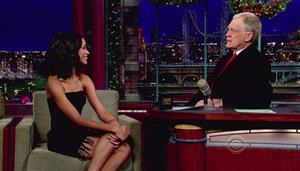 Zoe Salanda at The Letterman Show