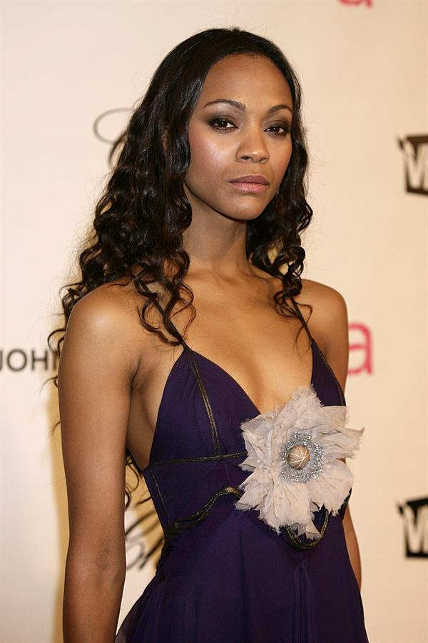 Zoe Saldana - 16th Annual Elton John AIDS Foundation Oscar Party 2008