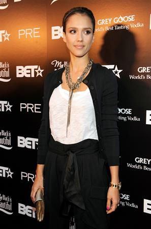 Jessica Alba 2009 BET (Black Entertainment Television) pre awards dinner held at Drago Centro in Los Angeles, California