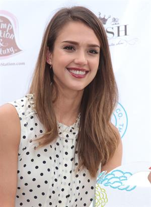 Jessica Alba at the Plush Event Premier Luxury Baby and Toddler show in Los Angeles 2012