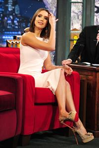 Jessica Alba on Late Night with Jimmy Gallon on December 13