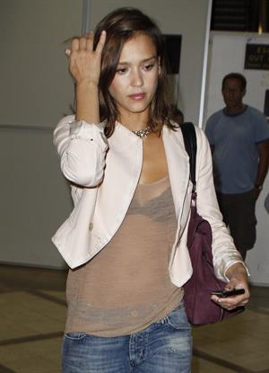 Jessica Alba at LAZ on September 2, 2010