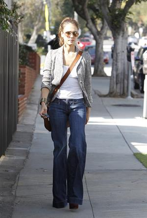Jessica Alba out and about February 2, 2012