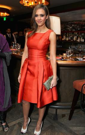 Jessica Alba Cocktails and Conversation at Soho house on February 21, 2012