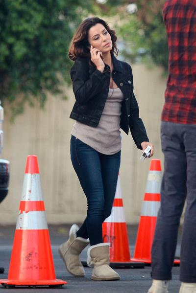 "Eva Longoria – ""Any Day"" set candids in LA 11/4/13"