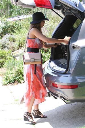 Jessica Alba shopping at Bel Bambini before heading to a baby shower in Hollywood on June 29, 2013