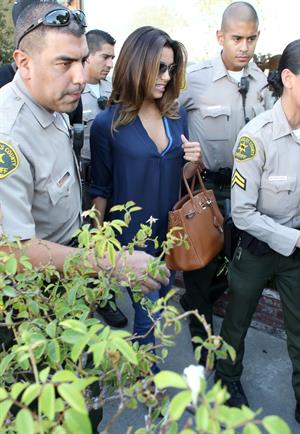 Eva Longoria walking in Beverly Hills 9/13/13