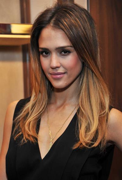Jessica Alba at Salvatore Ferragamo Launch 12/5/12