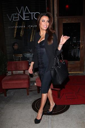 Eva Longoria leaving Via Veneto Italian restaurant in Santa Monica 04/25/13