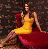 Eva Longoria press conference and photocall to promote Holandas Magnum Devotion Ice Cream in Mexico City