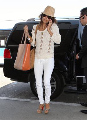Eva Longoria - LAX airport to catch a flight out of town - August 10, 2012