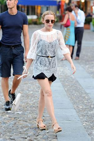 Kylie Minogue out and about in Portofino 26.07.13