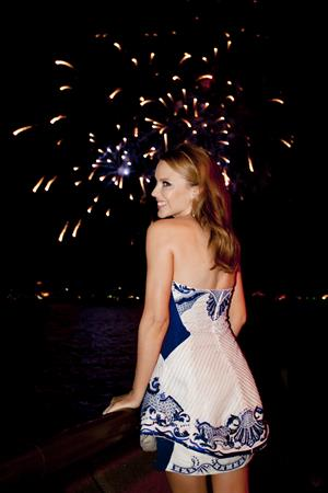 Kylie Minogue At the 9PM Family Fireworks 31.12.12