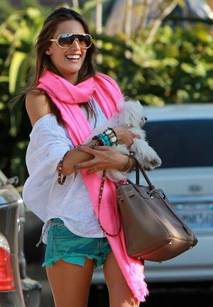 Alessandra Ambrosio at the Country Mart in Malibu on May 28, 2011