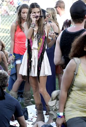 Alessandra Ambrosio at Coachella Valley Music and Arts Festival day 1 on April 15, 2011