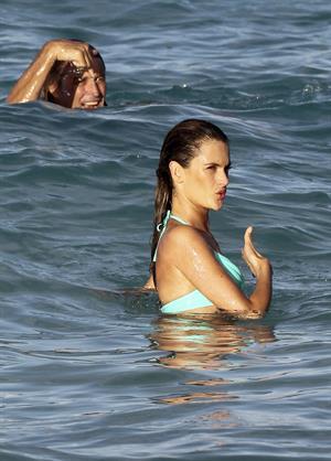 Alessandra Ambrosio Victoria's Secret photoshoot in St. Barts 1/31/13