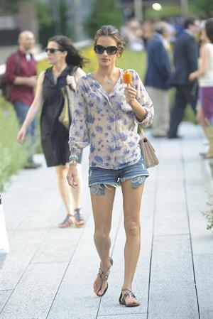 Alessandra Ambrosio New York candids on June 29, 2011