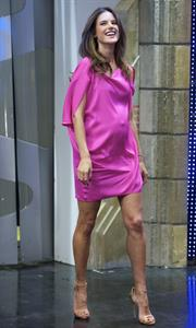 Alessandra Ambrosio on El Hormiguero tv show in Madrid 05.03.2012