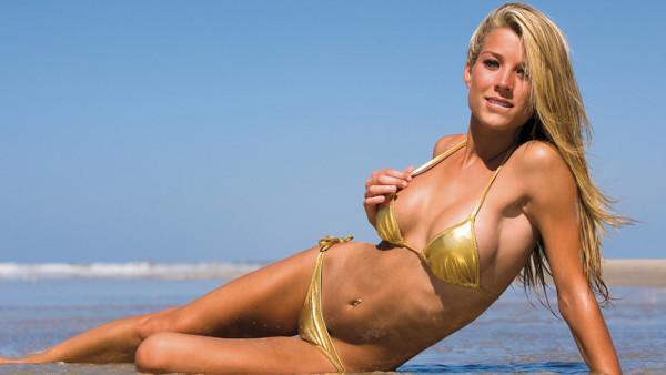 Dominique Storelli in a bikini