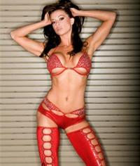 Candice Michelle in lingerie