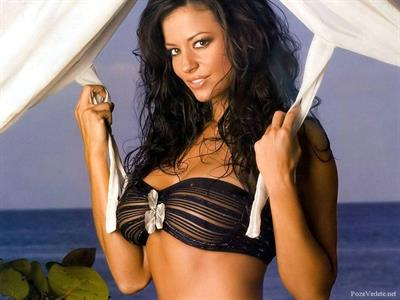 Candice Michelle in a bikini