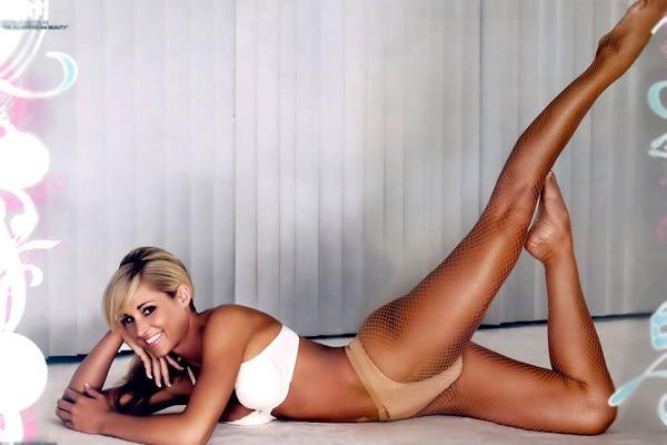 Michelle McCool in a bikini