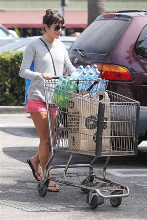 Lea Michele leaving Whole Foods in LA 9/21/12