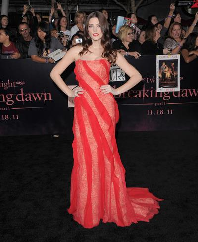 Ashley Greene Twilight Breaking Dawn premiere in Los Angeles on November 14, 2011