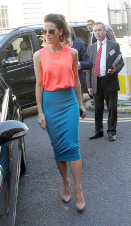 Kate Beckinsale leaving her hotel in Dublin, August 14, 2012