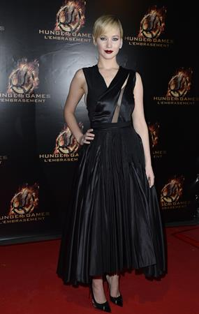 "Jennifer Lawrence ""The Hunger Games: Catching Fire"" French Premiere in Paris, November 15, 2013"