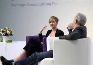 Jennifer Lawrence Q&A at the Yahoo Headquarters - Los Angeles - November 6, 2013