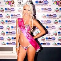 Krystal Dawson in a bikini