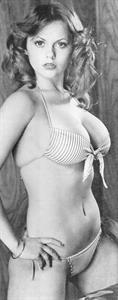 Joanne Latham in a bikini