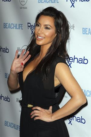 Kim Kardashian - Hosts Rehab Sundays Pool Party at the Hard Rock in Las Vegas (June 3, 2012)
