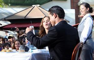 Sofia Vergara at The Grove with Mario Lopez on April 28, 2011