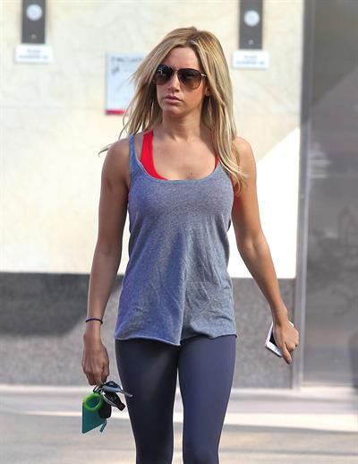 Ashley Tisdale at the gym in West Hollywood 12/7/12