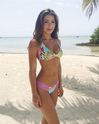 Anna Milanesi in a bikini
