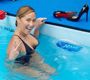Adrienne Bailon – Swim for Relief Benefit, NY 10/9/13