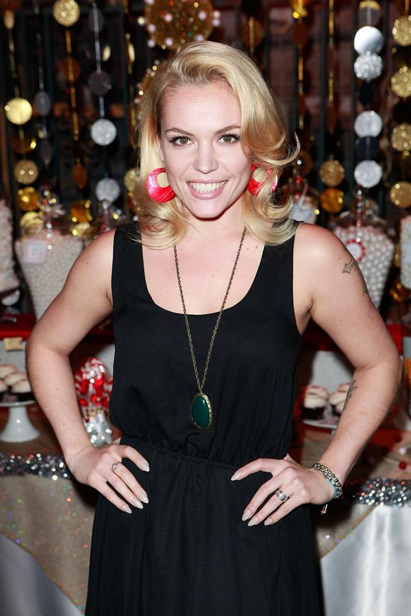 Agnes Bruckner Hollyscoop / REV NewMedia 2012 Holiday Party At Pink Taco Sunset Strip (Dec 7, 2012)