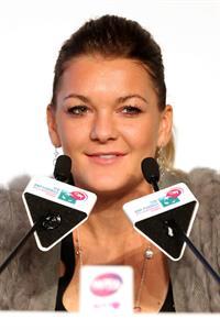 Agnieszka Radwanska before the Start of the WTA Championships October 21, 2013
