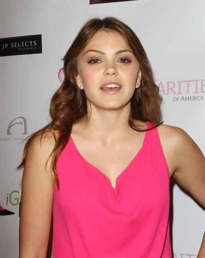 Aimee Teegarden the breast cancer charities of America 2 annual fashion show fundraiser in L.A. on October 19, 2011