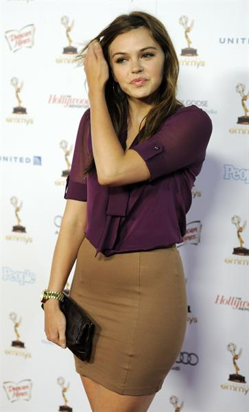 Aimee Teegarden 63rd Primetime Emmy Awards Performers Nominees Reception on September 16, 2011