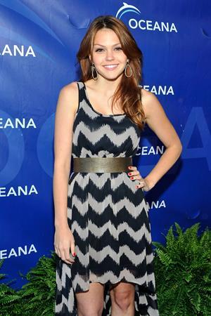 Aimee Teegarden arrives at 2012 Oceana's SeaChange Summer Party on July 29, 2012 in Laguna Beach, California