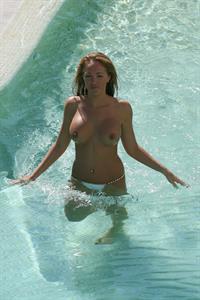 Aisleyne Wallace Holiday Spain 2008 - Topless