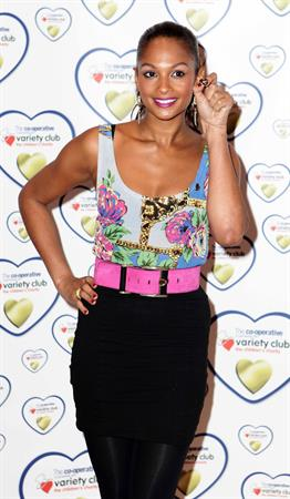 Alesha Dixon - The launch of the variety club gold hearts appeal at battersea power station in London - Jan 27, 2010