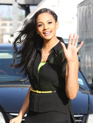 Alesha Dixon - Outside London studios - March 8, 2012