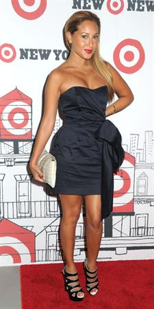 Adrienne Bailon at the Target East Harlem Grand opening on July 20, 2010